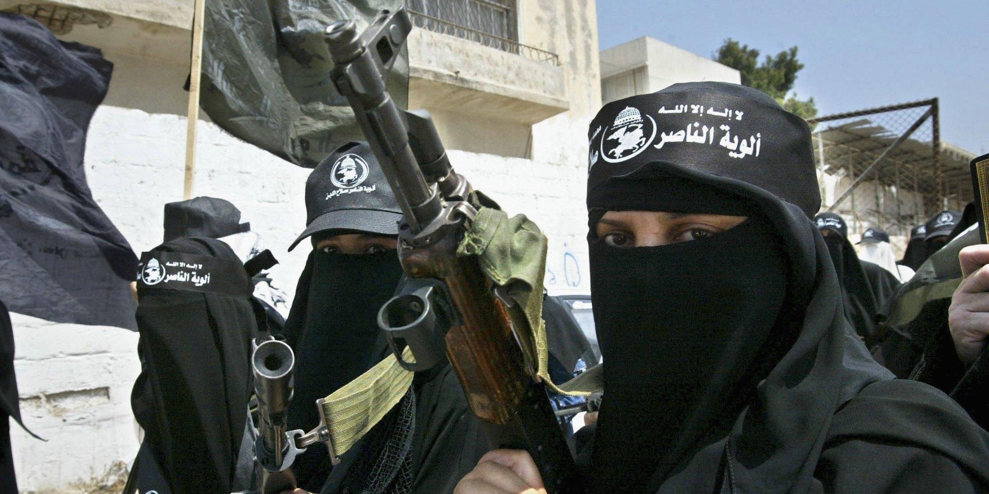 Female Palestinian Militants Protest Against Israeli Attacks